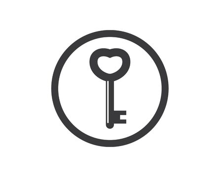 key vector illustration icon design