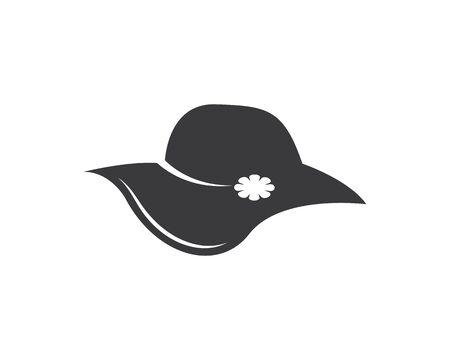 woman hat icon logo vector illustration design template Ilustracja