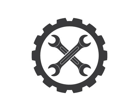wrench vector illustration and icon of automotive repair design Ilustracja