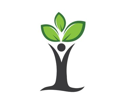 family tree logo template vector illustration Ilustracja