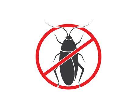 cockroaches vector icon illustration design template Ilustracja