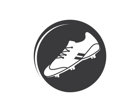 football shoes vector icon illustration design template