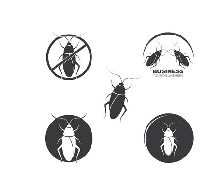 cockroaches vector icon illustration design template Illustration