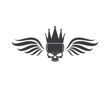 skull bone logo vector illustration design