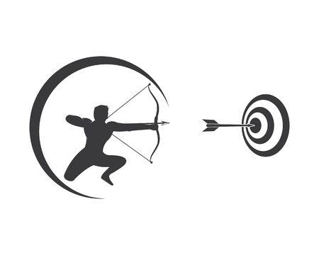 Arrow archery icon vector illustration Logo Template design Illusztráció
