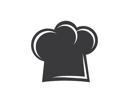 hat chef logo template vector illustration