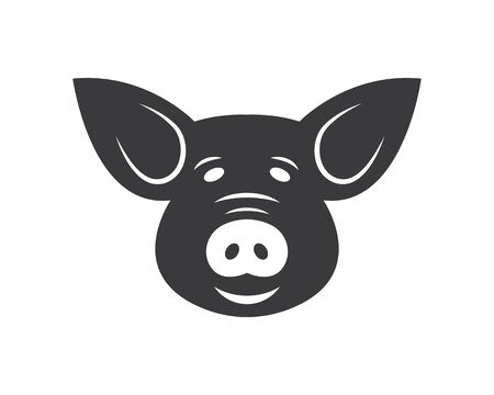 pig vector icon illustration design template Stock Vector - 131435520