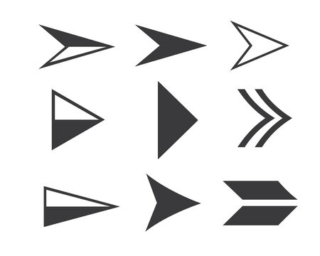 Arrow vector illustration icon Logo of delivery and logistic design Ilustração