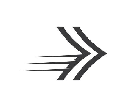 Arrow vector illustration icon Logo of delivery and logistic design 일러스트