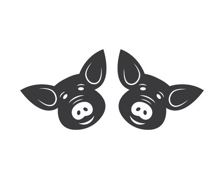 pig vector icon illustration design template Stock Vector - 131435752