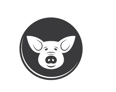 pig vector icon illustration design template Stock Vector - 131435755