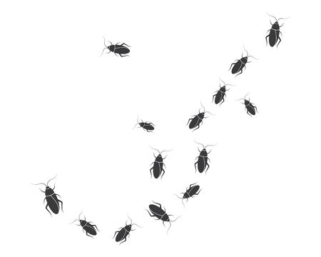 cockroaches vector icon illustration design template