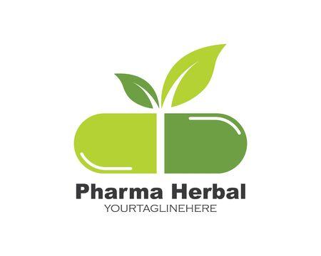 pharmacy logo icon vector illustration design template Standard-Bild - 131448975