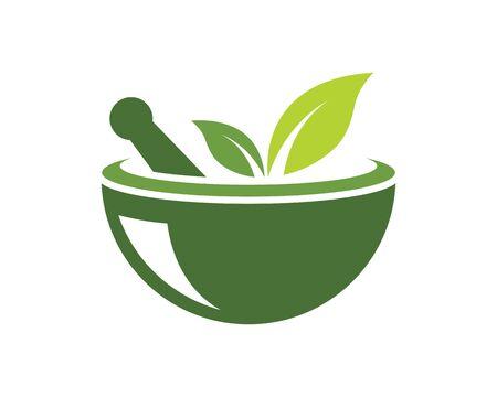 pharmacy logo icon vector illustration design template Standard-Bild - 131449018