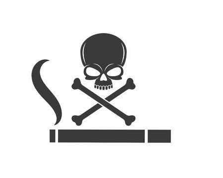 smoking sign vector illustration design template Stock fotó - 131282454