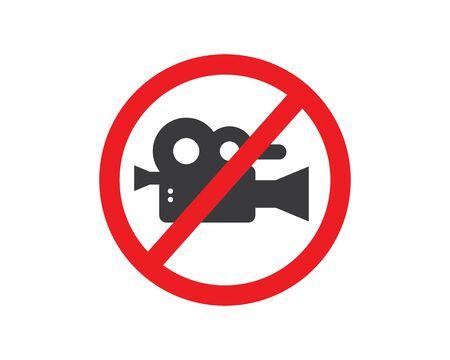 prohibition video record  sign vector illustration design  Ilustracja