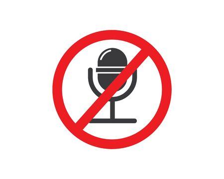 prohibition voice record  sign vector illustration design
