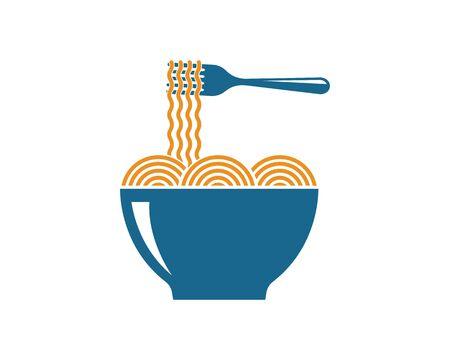 pasta,spaghetti vector  illustration icon  design Ilustracja