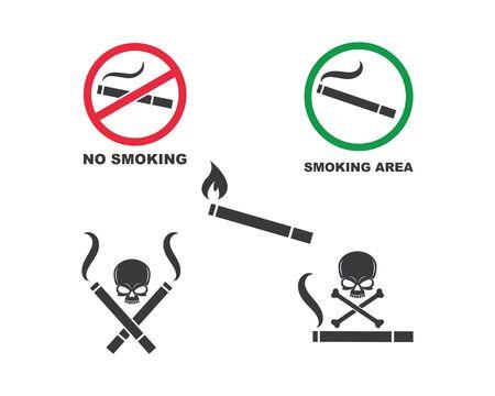 smoking sign vector illustration design template
