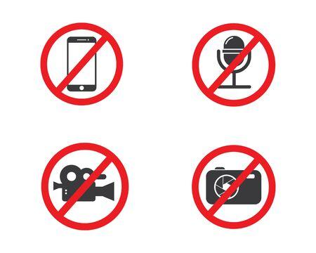prohibition media  sign vector illustration design