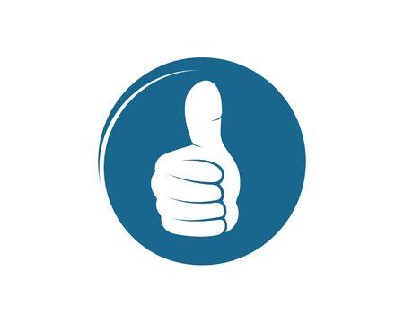 thumb hand up icon vector illustration design template Foto de archivo - 131338671