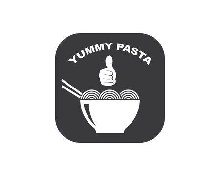 pasta,spaghetti vector illustration icon design