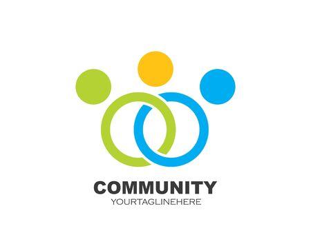 leadership, communauté, social et entreprise Logo icône vector design