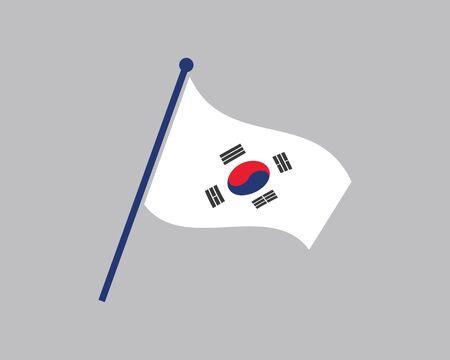 korean flag vector illustration design template