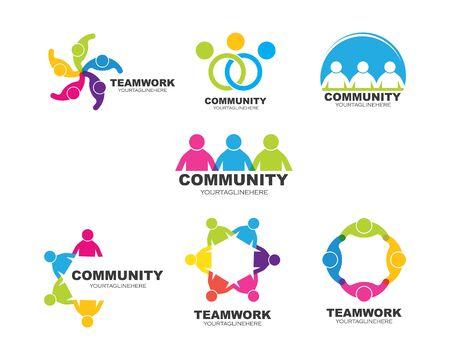 leadership,community,social and company Logo icon vector design