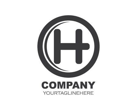h letter logo icon vector illustration design
