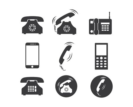 phone icon set vector illustration design template