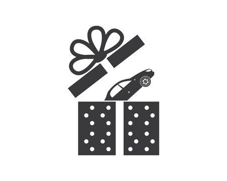 gift box logo vector icon design Stock Illustratie