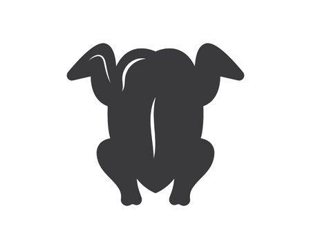 fried chicken icon logo illustration vector Stock Illustratie
