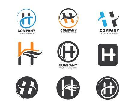 h letter logo icon illustration vector design