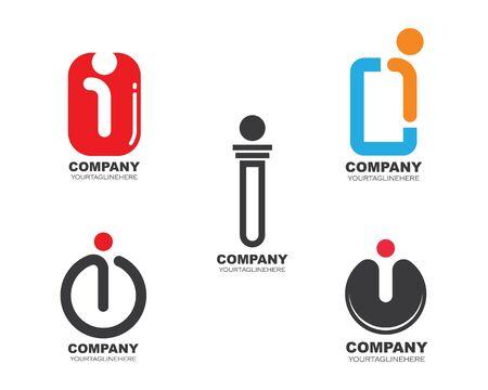 i  letter logo icon illustration vector design