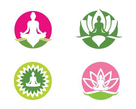 Meditation logo template vector icon design