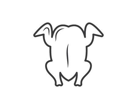 chicken logo icon vector illustration template