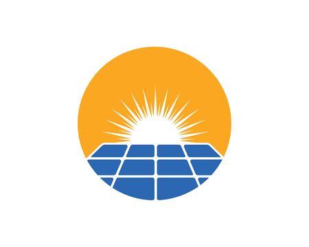 solar panel logo vector icon of natural energy design