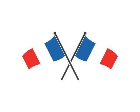 france flag vector illustration design template