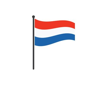 netherland flag vector illustration design template
