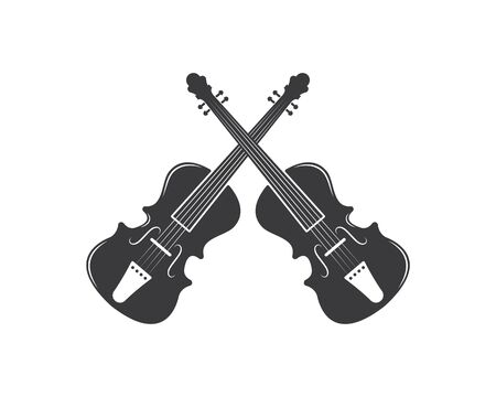 violin icon vector illustration design template