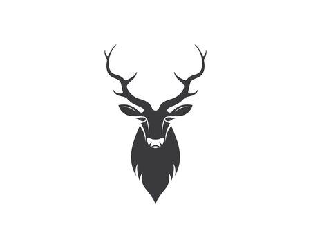 Deer ilustration logo vector template Stock Illustratie