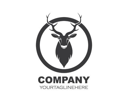 Deer ilustration logo vector template  イラスト・ベクター素材