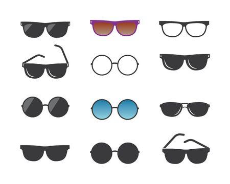 sunglasses logo icon vector illustration design template