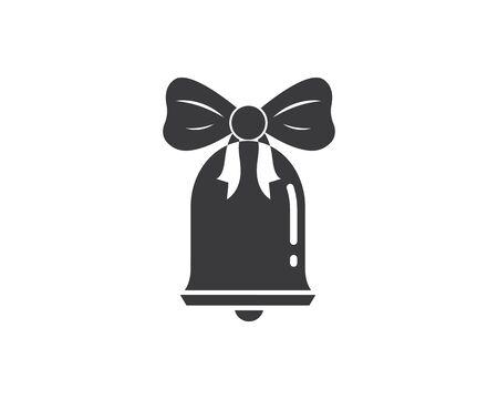 cristmas bell illustration template vector