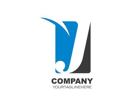 J letter logo icon illustration vector design
