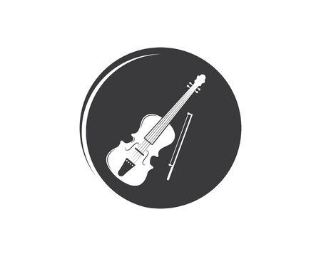violin icon vector illustration design template