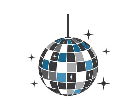 disco ball icon vector illustration design template Stock Illustratie