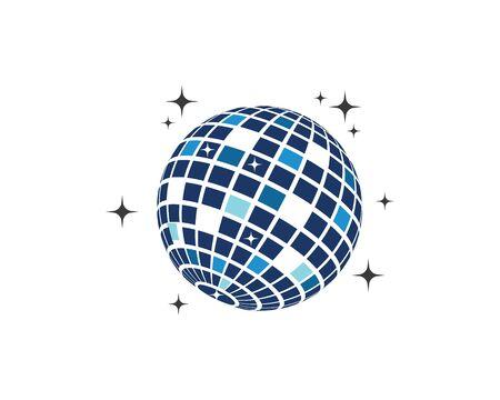 disco ball icon vector illustration design template Standard-Bild - 132171880