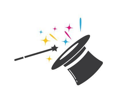 wizard hat vector icon illustration design template Vector Illustration